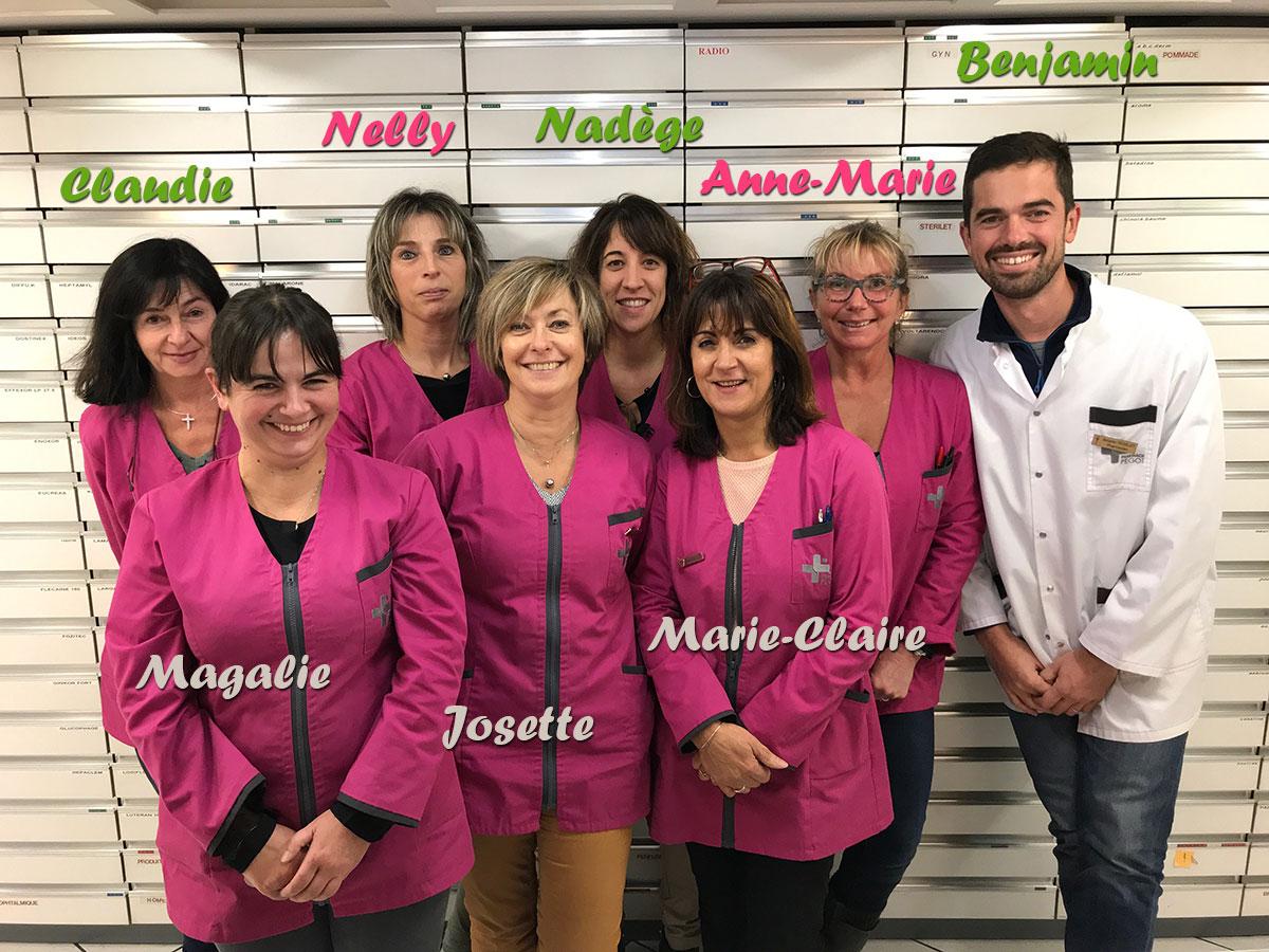 Toute l'équipe de la pharmacie Pégot - Pharmacie Saint Gaudens